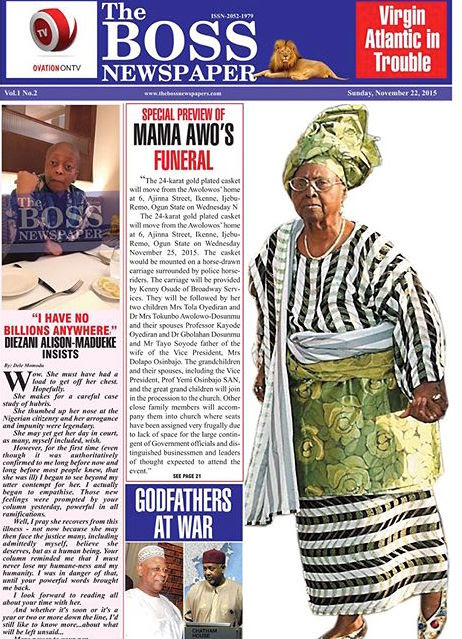 Diezani Alison-Madueke with Dele Momodu on Boss Newspaper 1