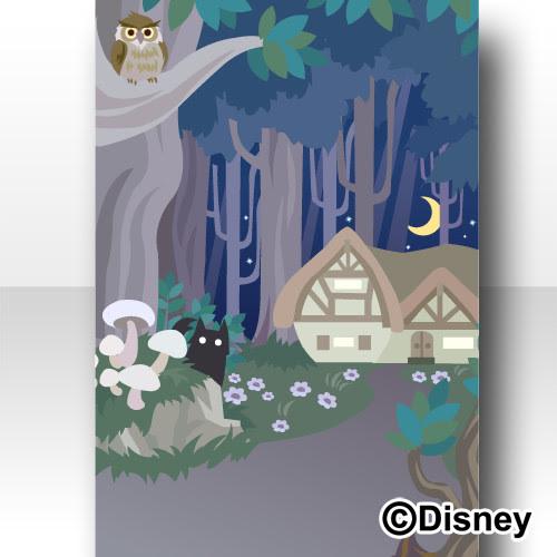 Trade 森の背景 夜白雪姫ディズニー