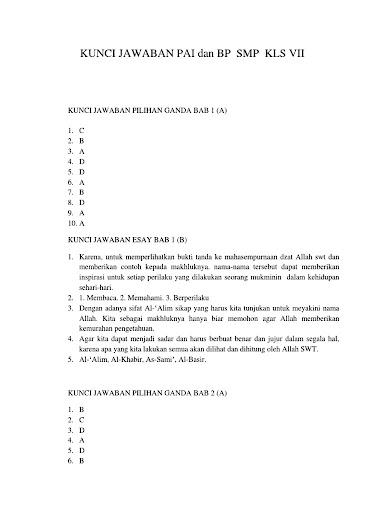Soal Agama Kelas 7 Semester 2 Ilmusosial Id
