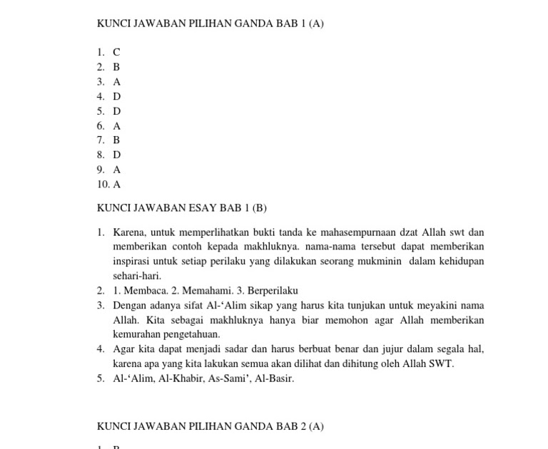 Kunci Jawaban Pai Kelas 8 Kurikulum 2013 Bab 11 Guru Ilmu Sosial