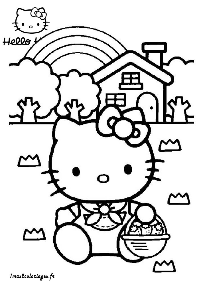 coloriage fr: Coloriages A Imprimer Hello Kitty