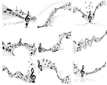 Notas Musicales En Formato Vectorial Portafolio Blog