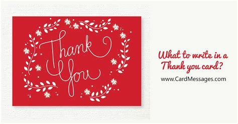 What to Write in a Thank You Card or Note?   Card Messages