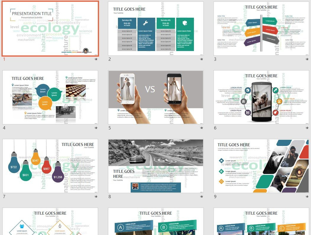 Ecology Powerpoint Template 65888