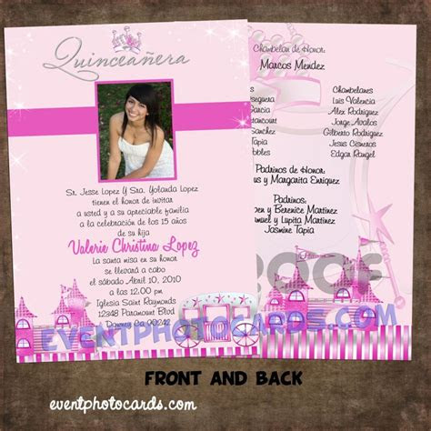 princess beautiful quinceanera invitations carriage