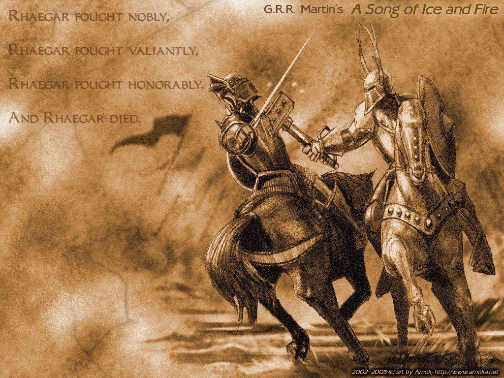 Rhaegar Targaryen Robert Baratheon As Cronicas De Gelo E Fogo