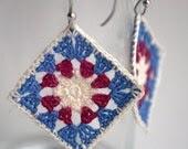 Granny square crochet earrings - MikiJensen