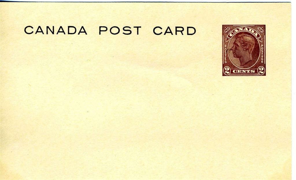 Image result for Canada King George VI Postal Stationery