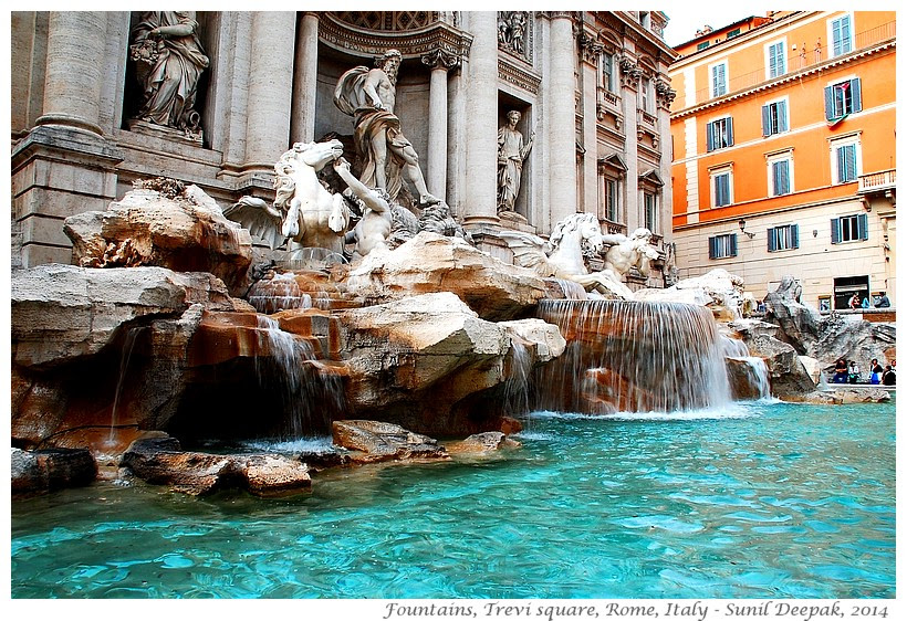 Most beautiful fountains - Italy, Rome - Images by Sunil Deepak
