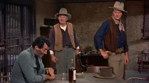 Dean Martin, Walter Brennan & John Wayne in 1959's Rio Bravo