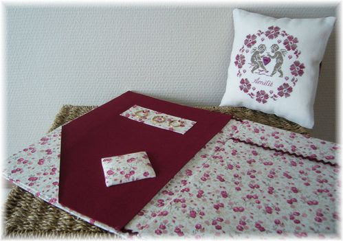 Coussin anges + porte grille 3