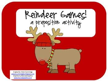 Reindeer Games! a preposition activity!