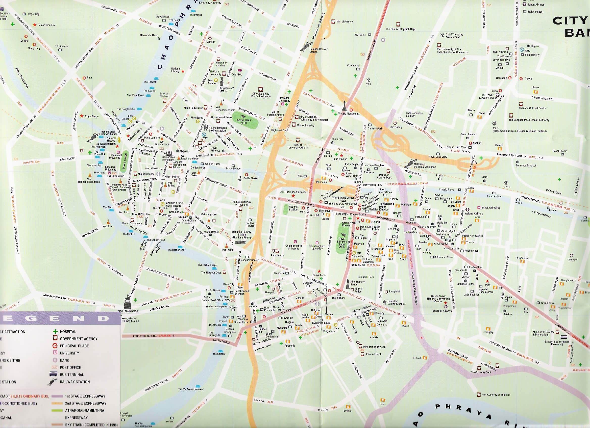 Complete Bangkok Thailand Street Map for Visitor,Bangkok Thailand Road Map,Map of Bangkok street,things to do in bangkok attractions map,bangkok thailand metropolis map