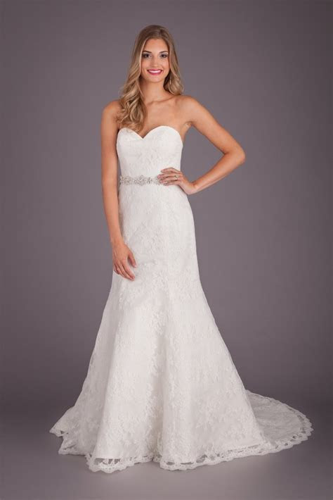A Lace Fit and Flare Wedding Dress ? Kennedy Blue