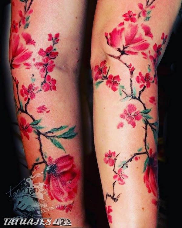 Flores De Almendro Tatuajes 123