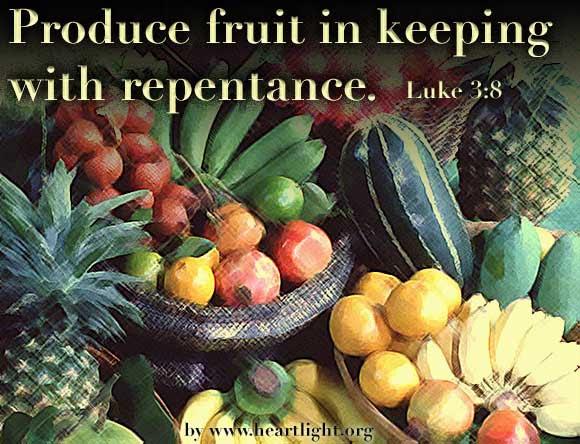Inspirational illustration of Luke 3:8
