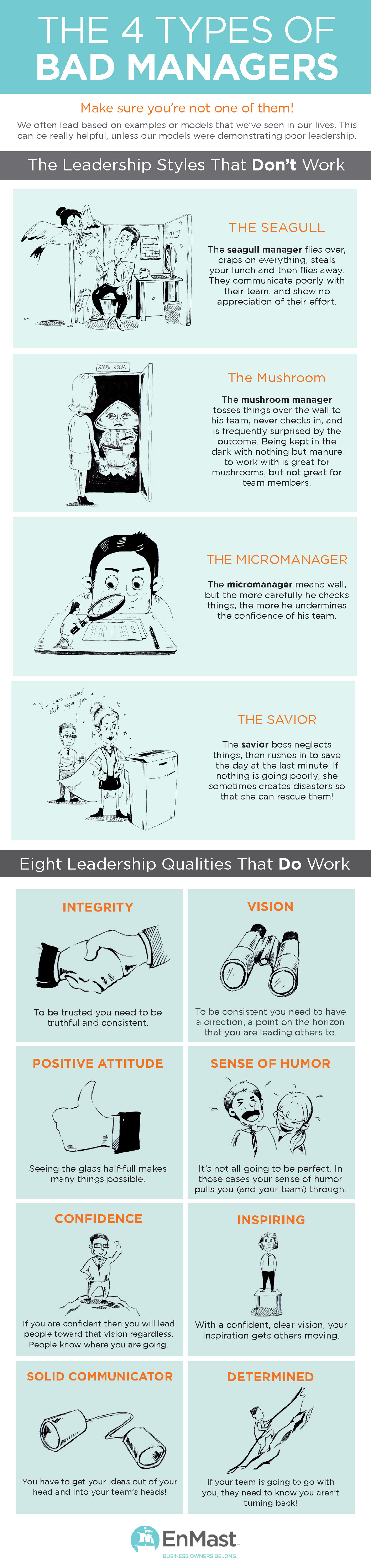Infographic: The 4 Types of Bad Managers