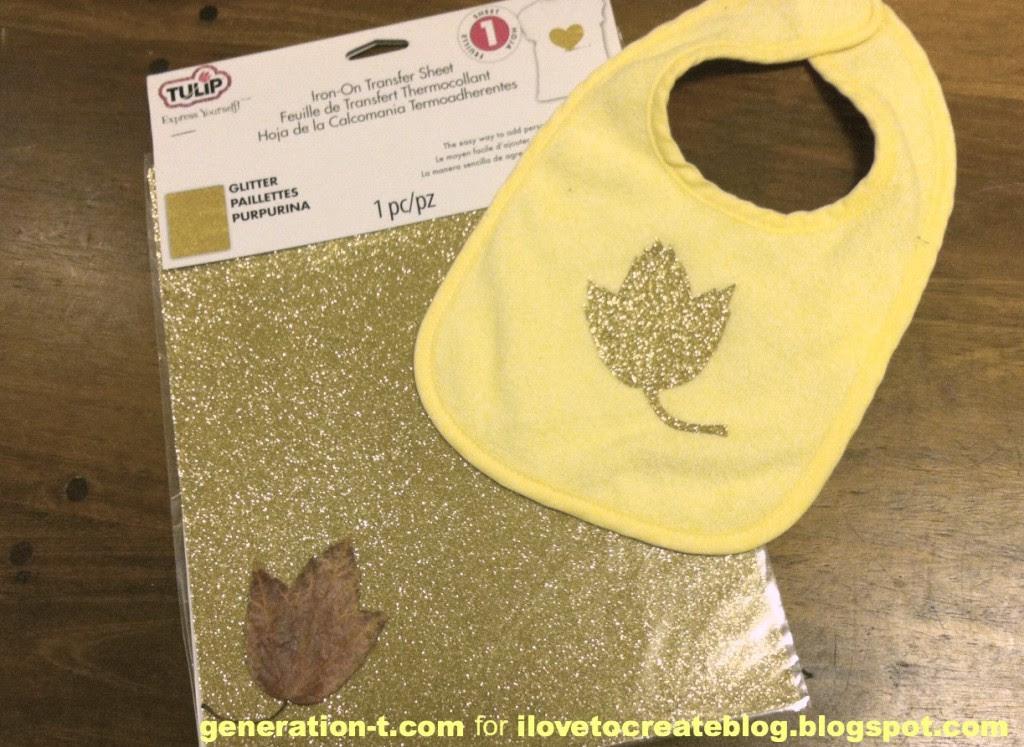 Glitter leaf materials