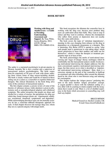 Review of drug and alcohol use book