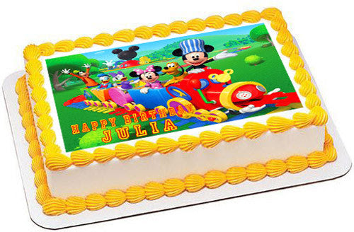 Mickey Mouse Clubhouse Train Edible Cake Topper Cupcake Toppers