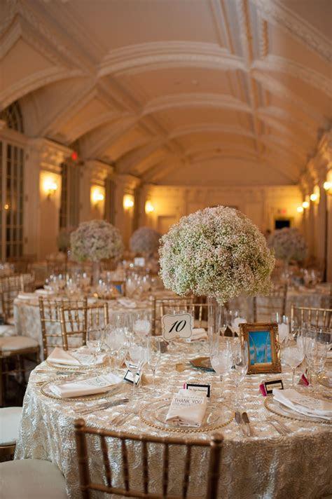 DAR Headquarters Pink   Gold Wedding   Wedding Tables