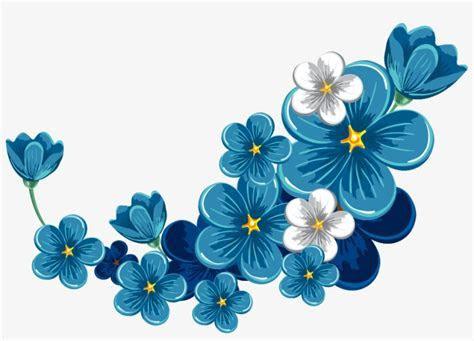 Blue Flowers Border PNG & Download Transparent Blue