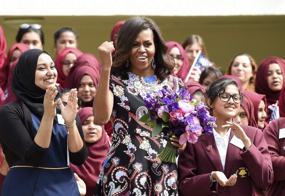 Michelle Obama defiende la educación de las niñas en Londres