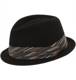 Black Narrow Brim New Yorker Trilby Christys Hats