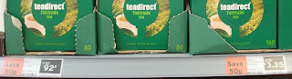 Sainsburys have an intriguing pricing policy when it comes to boxes of Teadirect tea bags