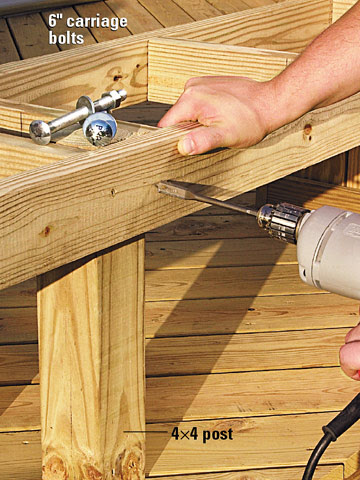 Building a Bench with Planters - Freestanding Decks - How to ...