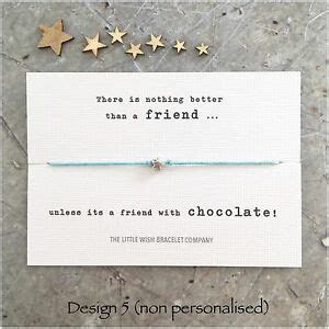 FRIENDS Wish Bracelet With CUTE QUOTES Friendship Best