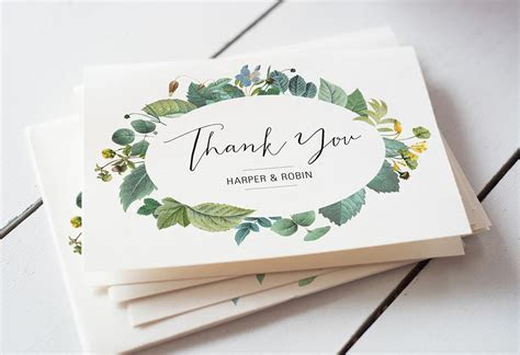 Easy Wedding Thank You Card Wording Templates   A