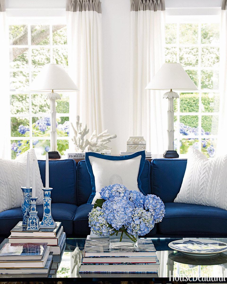Blue and White Costal Decor | iDesignArch | Interior ...