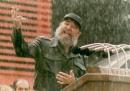 (FILE) Cuban president, Fidel Castro, in