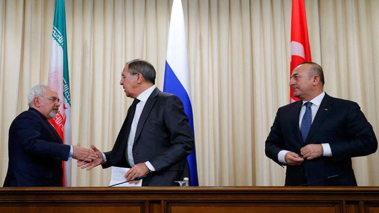 Κοινή διακήρυξη των ΥΠΕΞ Ρωσίας, Ιράν και Τουρκίας για τη Συρία