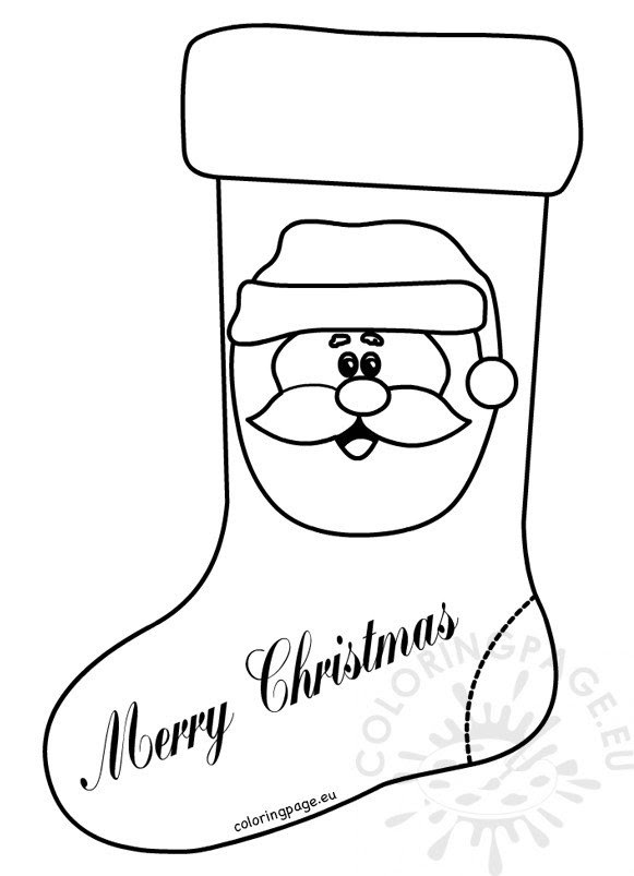 Christmas Stocking Coloring Page Carinewbi