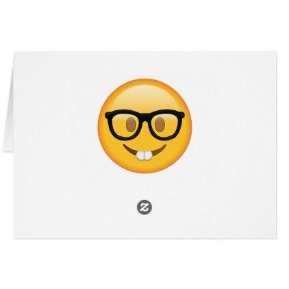 Nerd with Glasses - Emoji Card