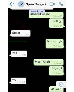 Segunda captura de la conversación entre espías y Younes Abouyaaqoub.