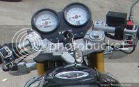 Foto do painel da Kahena 250 Dual