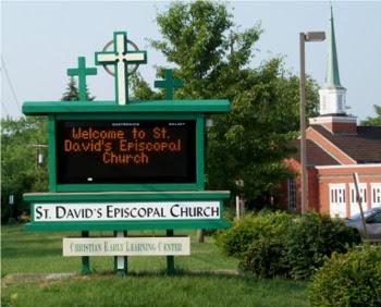 Sign at St. David's