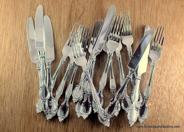 Silver Colored Plastic Utensils
