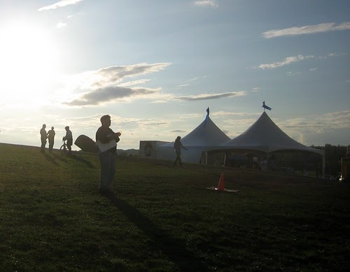 Sunset at a beer festival