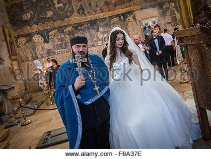 Wedding ceremony in Georgian Orthodox Svetitskhoveli