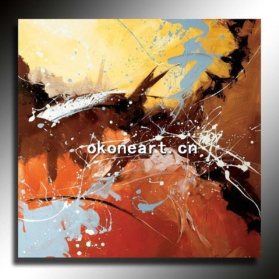 Home Decor Abstract Oil Painting On Canvas Painting by Jim - Home