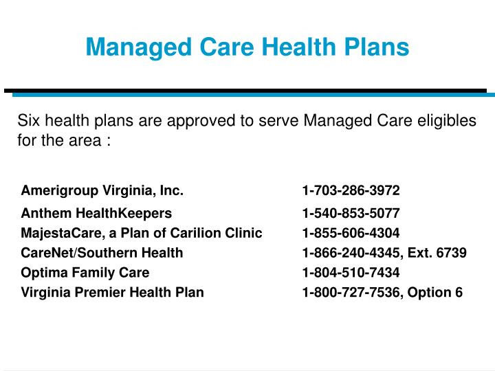 PPT - The Virginia Medicaid (Medallion II) and CHIP (FAMIS ...