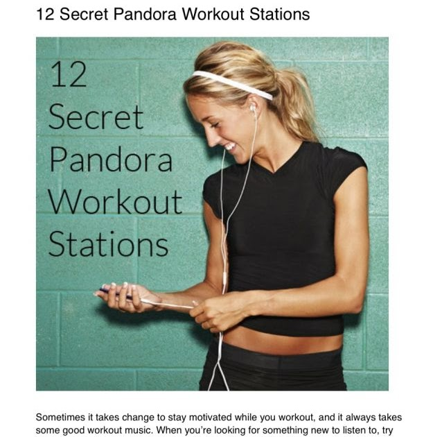 Diary Of A Fit Mommy  12 Secret Pandora Workout Stations