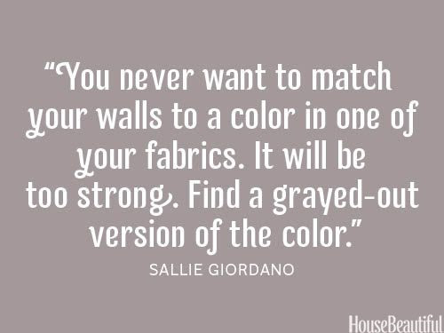 35 Decorating Secrets from Top Interior Designers. Almost all are great things to consider. I absolutely agree with this advice, about color on your walls