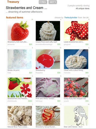 strawberries and cream treasury
