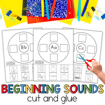 Beginning sounds, kindergarten phonics.  first sound fluency