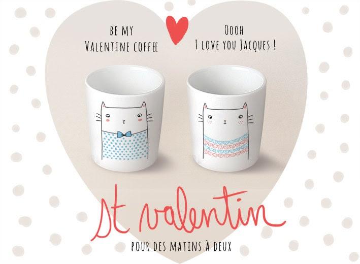 "DUO Cup coffee / espresso ""Jacques et Valentine"" - Sobigraphie"